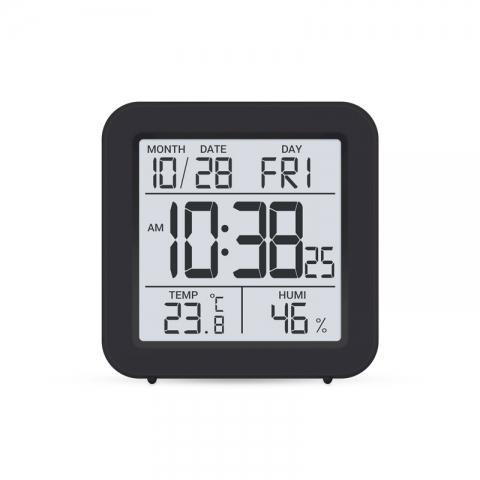 Термометр - гигрометр цифровой с часами Стеклоприбор Т-15
