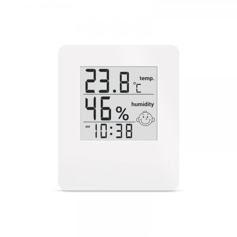 Термометр - гигрометр цифровой с часами Стеклоприбор Т-17