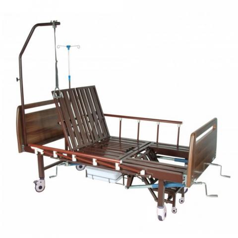 Механическая медицинская кровать с санитарным оснащением DHC FF-2 с функциями