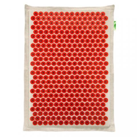 Тибетский аппликатор, Лаборатория Кузнецова (массажер медицинский, красный, 41х60 см, на мягкой подложке, магнитный)