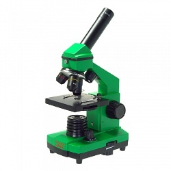 Микроскоп школьный Микромед Эврика 40х-400х в кейсе (лайм)
